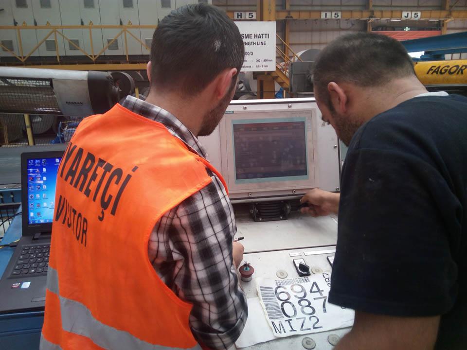 BAMESA ÇELİK (Orhangazi -BURSA) Fabrikasininda Hat Ustunde Bakim Ustalari ile Winccflexible Backup alma ve bakim Eğitimi