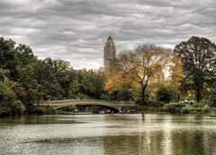 Bow Bridge, Central Park New York (neilalderney123) Tags: 2016neilhoward olympus omd newyork nyc landscape fall autumn water lake