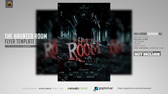 Haunted Room Flyer Template (prassiod) Tags: blood club costumeparty creepy design flyer ghosts halloween halloweenbash halloweenparty haunted horror mansion music night nightmare party poster prassiod print scaryflyer spooky template thriller trickortreat vintage zombie