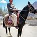 A man on the horse, Altit, Pakistan パキスタン、アルチット 馬に乗ったおじさま