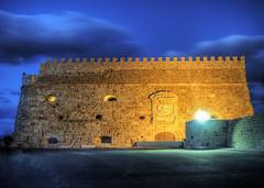 the Venetian Fort in Heraklion (neilalderney123) Tags: 2016neilhoward crete greece olympus architecture night longexposure history