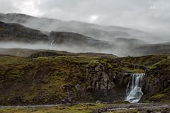 Falls & Fog (Sophie Carr Photography) Tags: iceland easticeland fog waterfalls foggy rainy longexposure moody moss travel roadtrip
