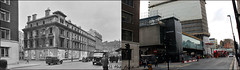 New Oxford Street`1956-2016 (roll the dice) Tags: london londonist westminster camden w1 uk art classic architecture old england new past present here now skycraper tube underground exit entrance platform passengers traffic crossrail taxi cab seventies local history retro bygone routemaster bus demolished lamp glass windows mad expensive flats changes collection almacantar heritage rail comparison sad harryhyams grade2listed stgilescircus shopping fashion oldandnew pastandpresent hereandnow streetfurniture van clock canon tourism richardseifert guinnessclock advertising busstop people travel transport multiplex