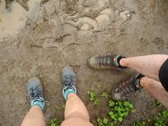 good purchases. (citymaus) Tags: maui hiking trail hawaii tropical waihee ridge hike wailuku shoes shoe sugarpine ahnu merrell muddy mud waterproof