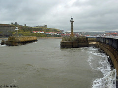 An entrance for Dracula (Row 17) Tags: uk unitedkingdom gb greatbritain britain england yorkshire whitby harbour harbours town breakwater sea seafront seawall shoreline historicsite historic coast coastal