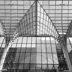 Cathedral of Business (marensr) Tags: skylight symmetry booth school business university chicago architecture glass windows light