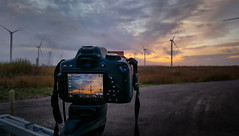 Behind the Camera @ Helsby Wind Farm (Rob Pitt) Tags: canon 750d1855m with graduated filter taken samsung s6 behind camera helsby wind farm cheshire photography tripod winter 2016 england sunset sunrise