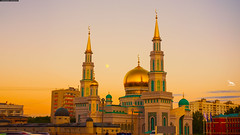 - Moscow Cathedral Mosque (By Khusen Rustamov) (xusenru) Tags: khusenrustamov xusenru moscow russia beauty mosque muslim religion islam 2017 sunset