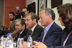 Pedro Passos Coelho em reunião com a UGT
