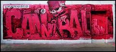 Cannibal Letters (Chrixcel) Tags: canniballetters skull vanit skeleton crne cannibalisme lettres graff graffiti streetart tag urbanart paris 3couronnes grobat spraycanart typography