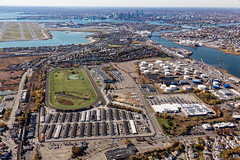Expand Neighborhoods-Suffolk Downs (jacquelinelender) Tags: photo suffolkdowns alexmaclean spring outdoor buildingsstructures daytime aerial eastboston administration original