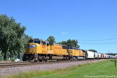 UP 4688 EMD SD70M (Trucks, Buses, & Trains by granitefan713) Tags: train freighttrain locomotive railfan railroad rochelle up unionpacific genevasub emd electromotive emdsd70m sd70m mixedfreight manifest