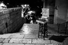 DSCF9691 (Joshua Williams' Photography) Tags: jerusalem israel bw night oldcity