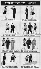 #'Courtesy to Ladies' from Bureau of Naval Personnel Information Bulletin [1944] [575 x 960] #history #retro #vintage #dh #HistoryPorn http://ift.tt/2fT1XO9 (Histolines) Tags: histolines history timeline retro vinatage courtesy ladies from bureau naval personnel information bulletin 1944 575 x 960 vintage dh historyporn httpifttt2ft1xo9