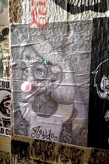 Mod Alice (allisonlnhyatt) Tags: bubblegum alice aliceinwonderland poster tattoos sugarskull blackandwhite