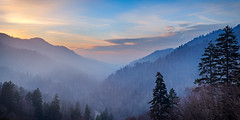 Smoky Sunset (dkinner) Tags: smokymountains greatsmokymountains gsmnp tennessee smoke serene sunset landscape nature mountain outdoors canon 6d 50mm panorama pano
