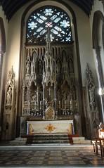 [46054] St Mary (RC), Warrington : High Altar & Reredos (Budby) Tags: warrington cheshire church victorian catholic romancatholic sculpture carving altar reredos