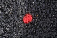 keine Frage, das war nicht Japan, was vor ihr lag (raumoberbayern) Tags: munich mnchen urbanfragments robbbilder abstract minimal red dot black rot schwarz teer tar
