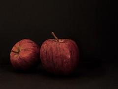 Rosy apples (d.barnett53) Tags: red onblack fruit apples stilllife