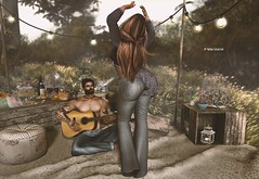 Bohemian Picnic (Nayra Collas) Tags: games bohemian hippie music dance secondlife