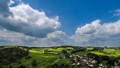 View from Kalvarienberg (SeSonnen) Tags: eifel eifelsteig landscape cloud village tree