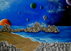 Cosmic Perception (Faye Anastasopoulou) Tags: space universe cosmos earth planets stars night dark galaxy fantasy comets world chaos light rocks stones sand sandy starry beach coastcosmic peaceful environment atmpospheric sea ocean water blue color colors vivid vibrant scene scenes scenic scenery unique artistic background bizarre weird beauty beautiful painted decor decoration decorative contemporary modern virtual deviant surreal surrealistic surrealism beyond by from fine art oil wallart awesome cool image images painting