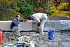 Repairing Frank Lloyd Wright's Fallingwater in Rural Pennsylvania (Joseph Hollick) Tags: fallingwater franklloydwright flw pennsylvania work repair terrace