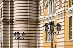 Central Mineral Baths, Sofia (Jean Ka) Tags:  bulgaria bulgarien bulgarie sofia  architecture baukunst rayure contraste stripes gestreift kontrast contrast lampadaire laterne lamppost