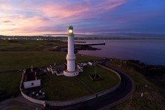Sunset over Girdle Ness, Aberdeen (iancowe) Tags: girdle ness lighthouse girdleness aberdeen torry nigg bay harbour scotland scottish nlb northernlighthouseboard sunset gloaming night evening drone dji djiphantom4 aerial