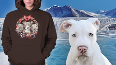 It's a Pit Bull Christmas... (Beverly & Pack) Tags: pitbull pitbulls white portrait ad forsale clothing hoodie tee tshirt christmas xmas gift sweats winter scenic scenery pit bull terrier american dog puppy k9 snow ice reef decor decoration americanpitbullterrier americanstaffordshireterrier staffordshire blueeyes blue cute clear happy fun popular best bully doglovers lover ilovepitbulls animal pet family rescue adopt adoption save shelter