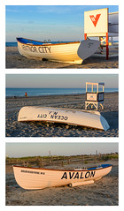 Three Lifeboats (PMillera4) Tags: three 3 lifeboats collage beach jerseyshore newjersey
