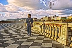 Diagonal stroll (Fabio Pratali LI) Tags: livorno toscana terrazza mascagni people