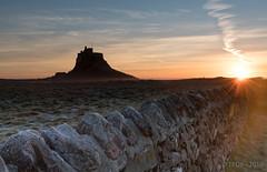 Lindisfarne Sunrise (TP DK) Tags: craggy sunrise sunset pools reflections milkywater longexposure orange rocks silky northumberland sky movement seascape leefilters red landscape clouds holyisland england unitedkingdom gb
