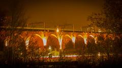 Stockport Rail Arches (ledwar) Tags: railway train bridge spanning arches nightphotographs longexposure tripod