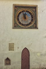 Clock And A Door On An Old Church Wall (k009034) Tags: 500px wooden baltic countries copy space estonia pha vaimu kirik tallinn tranquil scene architecture building church clock door medieval no people numbers old travel destinations wall window teamcanon