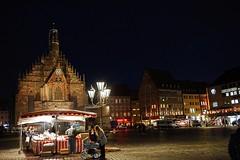 Nuremberg evening (Jurek.P) Tags: nuremberg norymberga germany bavaria europe oldtown market night nightcity nightshot cityscape city lights square churchofourlady church jurekp sonya77