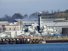 HMS Monmouth (mukaloon) Tags: hms monmouth ship f235 type 23 water frigate devonport naval