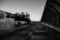 Working Bridge (John fae Fife) Tags: fujifilmx noiretblanc xe2 monochrome luxemburg blackandwhite nb bridge bw