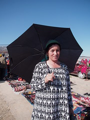 Uzbekistan 2013 (hunbille) Tags: uzbekistan mountains pamir pamirmountains urgut bazaar market sunday umbrella