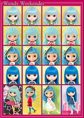 Neo Blythe: Comparison of Wendy Weekender (WeWe), Miss Sally Rice (MSR), Candy Carnival (CC) and Simply Sparkly Spark (SSS)