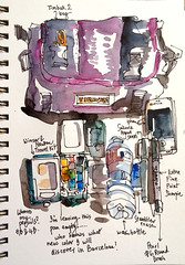 Packing for Barcelona (suhita1) Tags: barcelona sketching sketchkit suhitasketchkit