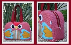 Bolsa corujinha (Patch da Lu) Tags: coruja patchwork bolsa corujinha