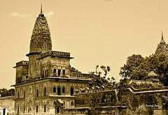 Temple or Haveli? (njain73) Tags: old india building heritage blackwhite religion lifestyle lucknow pradesh uttar laharpur