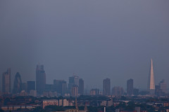 The View from Suicide Bridge (Gary Kinsman) Tags: road bridge blue sunset sky urban london tower skyline modern skyscraper evening haze cityscape view zoom dusk barbican compression telephoto highrise archway highgate shard gherkin 30stmaryaxe cityoflondon citypoint willisbuilding hornseylane hornseylanebridge suicidebridge n6 londonist guystower canon70300mm 20fenchurchstreet 2013 122leadenhallstreet sthelenstower theshard herontower leadenhallbuilding canoneos5dmarkii shardlondonbridge canon5dmkii