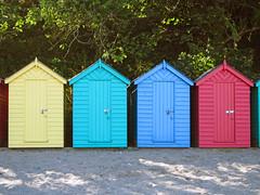 Beach Huts at Llanbedrog (Bad Wolf Babe) Tags: beach llanbedrog beachhuts lindajenkins