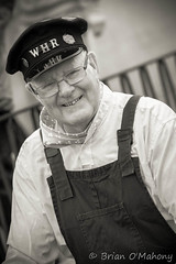 Hey Mr Railway Man (Brian O'Mahony) Tags: portrait man smile festival wales train miniature north victorian railway highland driver welsh llandudno extravaganza canon70200mmf28lis brianomahony canon40d thephotographiceye