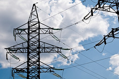 electric line (Konstantin Yolshin) Tags: blue sky cloud tower industry lines silhouette electric metal clouds high wire energy industrial wiring technology power steel cable structure line infrastructure electricity network electrical transmission distribution voltage transmit