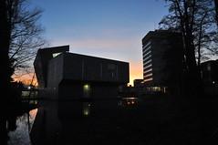 Van Abbe (Luc Wiltschut) Tags: city winter light sky holland water netherlands museum night river dark licht nacht nederland eindhoven van lucht stad donker rivier abbe dommel bleekweg