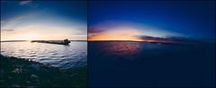 Shipwreck diptych (HolmisticWalker) Tags: sea summer night diptych shipwreck samyang