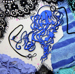 """Jelly"" (lemantuladesigns) Tags: jellyfish jewelry psychedelic cad tentacles manowar 3dprint medusae bluejellyfish 3dprinted bluenecklace blackchain jellyfishnecklace unusualjewelry oceanjewelry mermaidjewelry seanecklace weirdjewelry strangejewelry unusualnecklace lemantuladesigns sinteredlace lemantula 3dprintednecklace tentaclenecklace underwaterjewelry 3dprintedjewery"